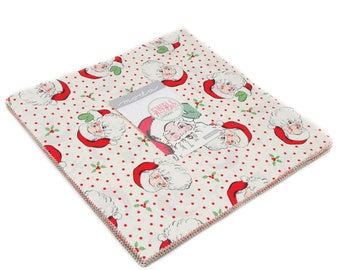 "Swell Christmas Layer Cake (42 - 10"" x 10"" squares) designed by Urban Chiks for Moda Fabrics, 100% Premium Cotton"