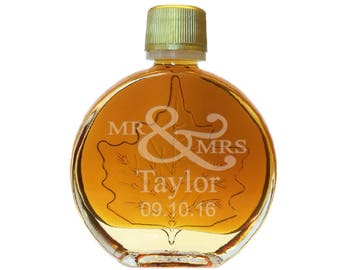 Vermont Maple Syrup Medallion Glass (50 ml) (24x per case) Personalized name and date (4.95 each)