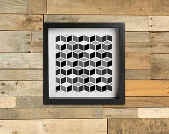 Geometric Cubes - Winter