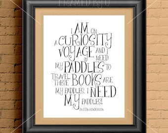 Literary Poster Gift * Literary Print Gift * Literary Quote * Bookworm * Stranger Things Gift * Stranger Things Art * Upside Down 1805