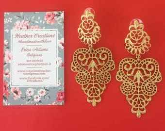 Gold inlays Earrings