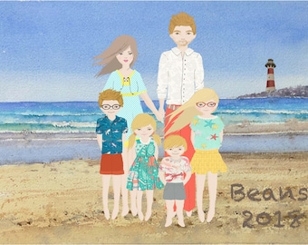 custom Illustrated Family or Personal Portraits