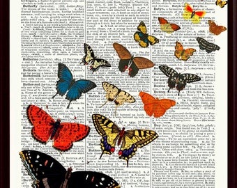Butterfly Print, Butterfly Poster, Nursery Art, Butterfly Art, Butterfly Wall Decor, Butterflies Deco
