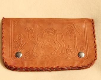 Camel leather wallet