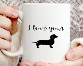 Wiener mug, dachshund mug, Valentines day gift for him, Gift for him, funny mug, Wiener dog mug, boyfriend gift,