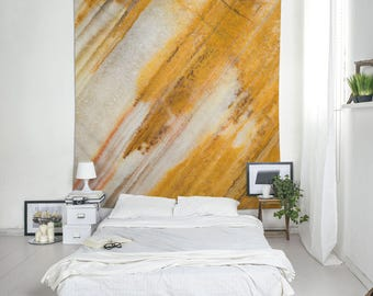 Wall hanging tapestry of Chalcedony stone mineral photograph, Dorm decor, Brown, Abstract, Stone, Modern, Indoor, Outdoor, Large art. MW115