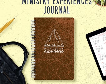 Ministry Experiences Notebook | JW Gifts | Pioneer Journal | Jehovah's Witnesses | JW | Ministry Journal | Jw Notebook