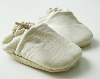 Soft linen baby shoes, light tan baby shoes, tan linen shoes,soft sole shoes,linen toddler shoes,beige baby shoes