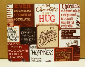 Mouse Pad - 190mm X 230mm - CHOCOLATE QUOTES.