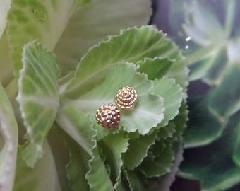 Java, 18k Yellow Gold Handmade Rope Studs, Ready to Ship