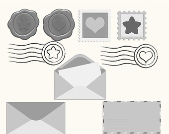 Postage Layered Vectors ~ Clipart ~ Clip Art ~ Digital Graphics ~ Scrapbooking ~ Crafts ~ Commercial Use