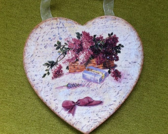 Decoupage House Decoration/Wedding Decoration/Mother's day Gift Lilac
