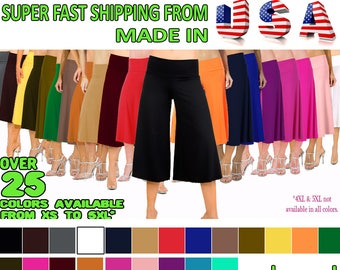 Flowy and Comfy Women's Capri Gaucho Pants. 25 colors available.