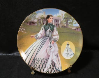 "Collector Plate- ""The Country Walking Dress"" Brad Ex- The costuming of a legend: Dressing Gone With The Wind"