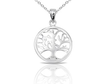 Tree Necklace, Tree of Life Necklace, Sterling Silver Tree of Life Necklace