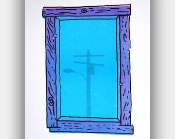 Window I, risograph print