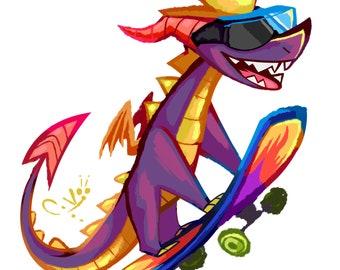 Spyro | Holographic Sticker