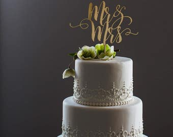 Mr and Mrs Cake Topper | Wedding Topper