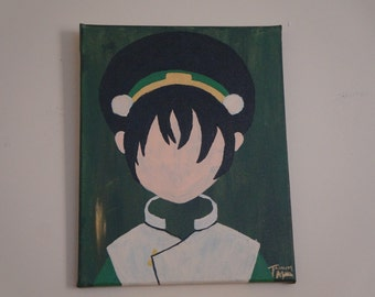 Toph Beifong - Avatar: The Last Airbender Minimalist Canvas Painting