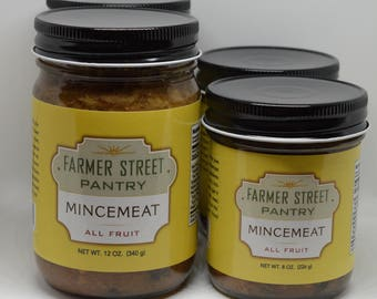 Enough for a Pie and a Gift: Mincemeat Set of 2 - 12oz. and 2 - 8oz. Jars
