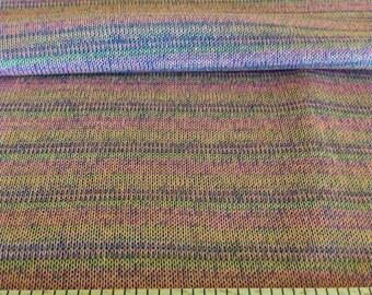 Multicolor striped fine cotton knit mesh