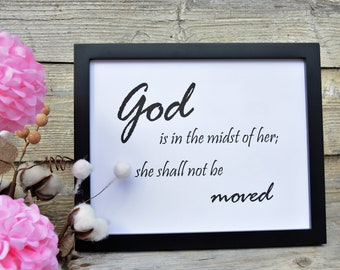 God in Midst, Mother's Day,Spring,Scripture Verse, Inspirational Quote,Bible Verse,Farmhouse,Printable,8x10 Digital Download