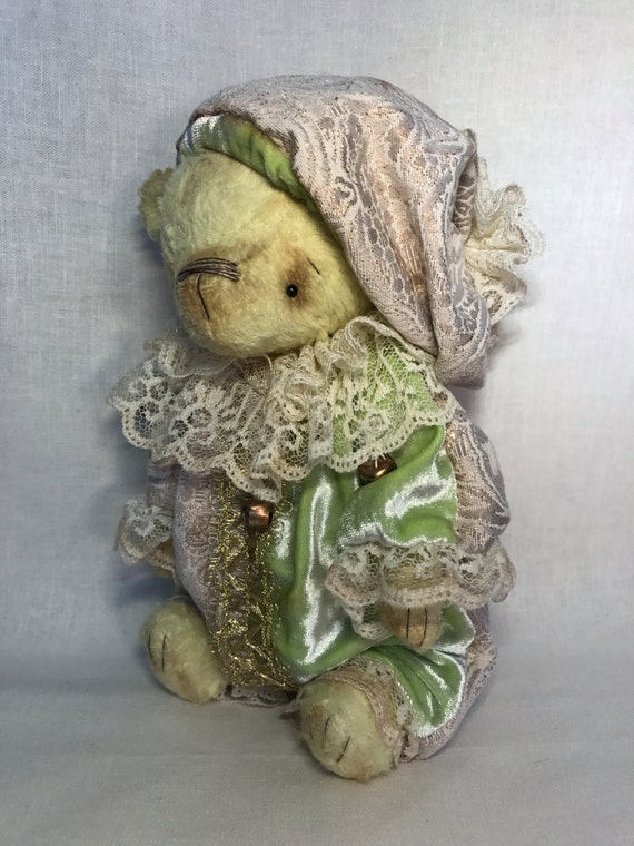 "Handmade OOAK artist teddy bear "" Beartalucci"". Handmade, collectible toy."