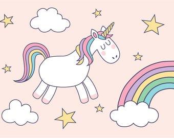 Unicorn children's A4 print