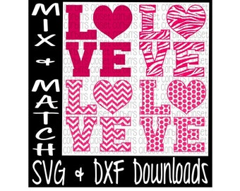 Love Mix & Match Cutting File - DXF SVG Files - Silhouette Cameo, Cricut