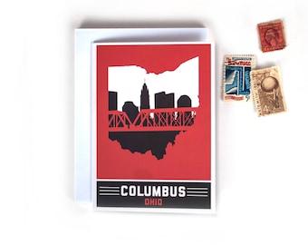 Columbus, Ohio Skyline Greeting Cards