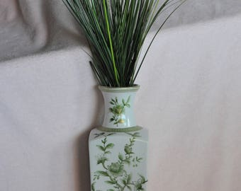 Beautiful Norleans green floral vase