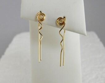 Amoeba  Earrings 14k Gold Filled