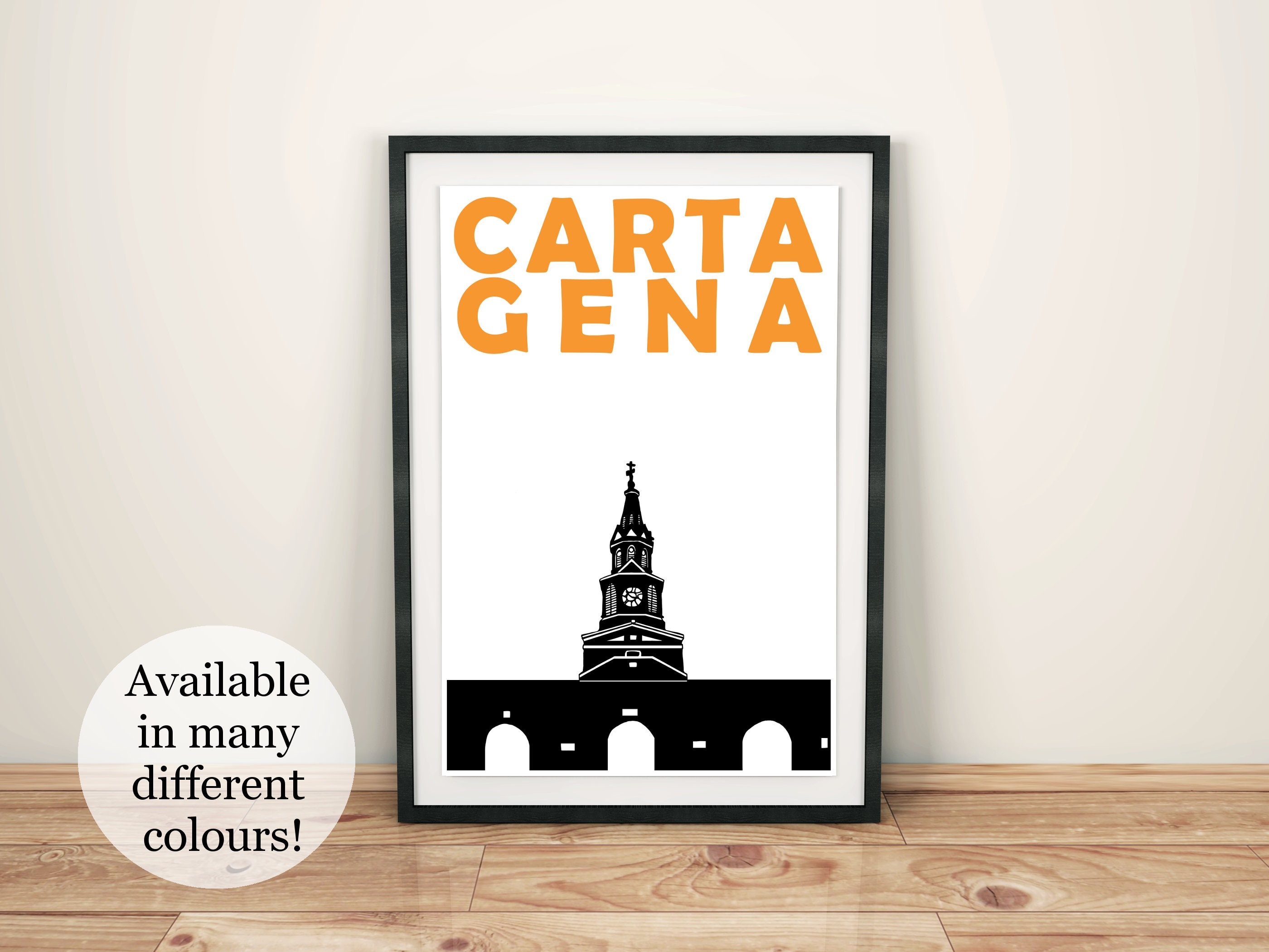 Cartagena Print // Colombia Travel Art Print // Cartagena Art