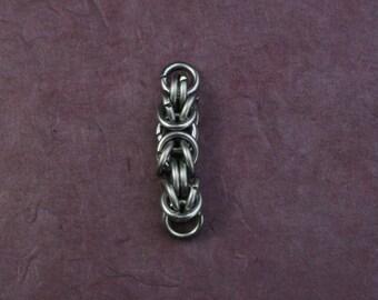 Edelstahlanhänger - Byzantine groß