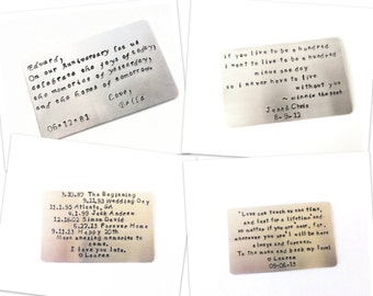 Personalize Your Own Message Wallet Insert Card - Birthday Gift, Anniversay Gift, For Any Occasions-Standard Credit Card Size