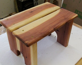 step stool, wood step stool, kids step stool, kitchen step stool, cabin furniture pet stool