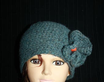 simple Beanie gray/blue