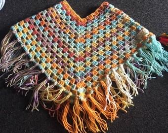 Hand Crochet Poncho