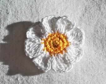 Brooch, PIN, badge color crochet flower