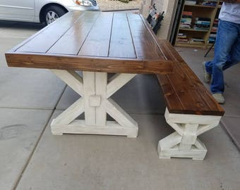 Double Beam Trestle Table