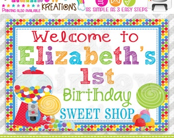 PSIGN-464: DIY - Cute Candy Shop 2 Party Sign