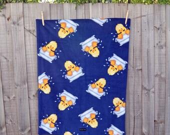 Baby blanket - Fleece blanket - Toddler blanket - Baby shower gift - Receiving blanket - Pram blanket - Rubber duckies - Baby Photo Prop