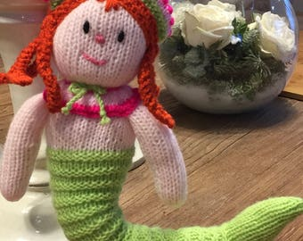 Hand Knitted Mermaid Doll/ Soft Toy ( ALL proceeds to charity )