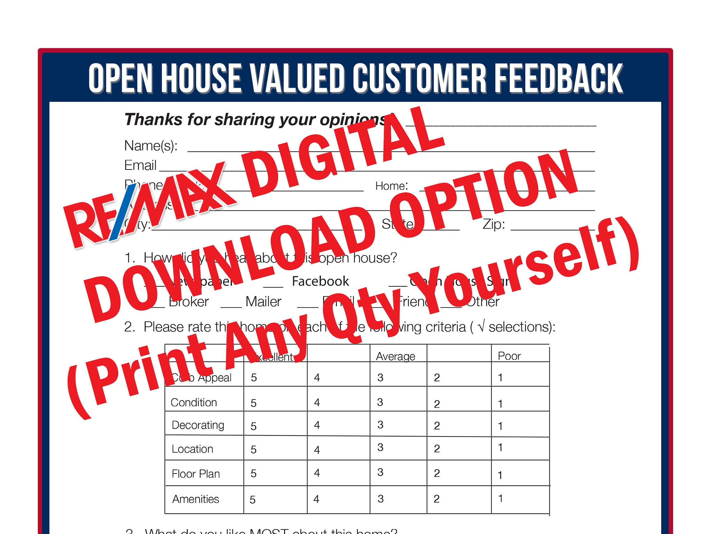 sample open house sign in sheet