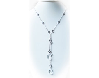 Sterling silver and Swarovski crystal lariat