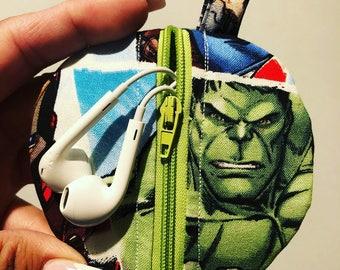 Hulk/Captain America headphone case