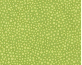 Avocado Green Small Dots from Robert Kaufman's Jules & Indigo Collection by Valori Wells