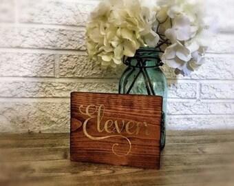 Wedding Table Numbers, Elegant, Nautical, Coastal, Beach, Rustic, Wood, Reclaimed, Reception Decoration, Centerpiece Decor