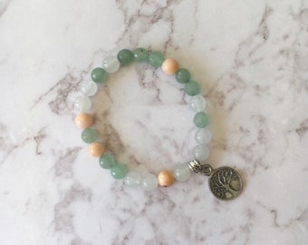 Bracelet gemstone yoga mala bracelet