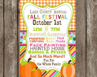 free fall flyer template